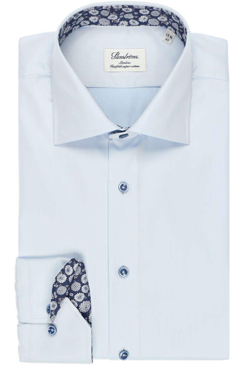 Stenströms Slimline Hemd hellblau, Einfarbig 44 - XL