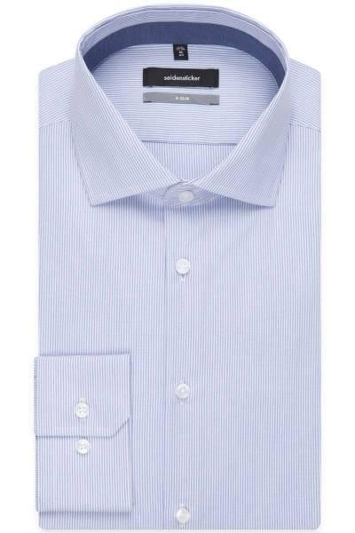 Seidensticker X-Slim Hemd bleu/weiss, Feinstreifen