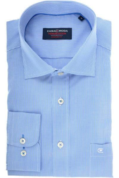 Casa Moda Comfort Fit Hemd blau/weiss, Vichykaro