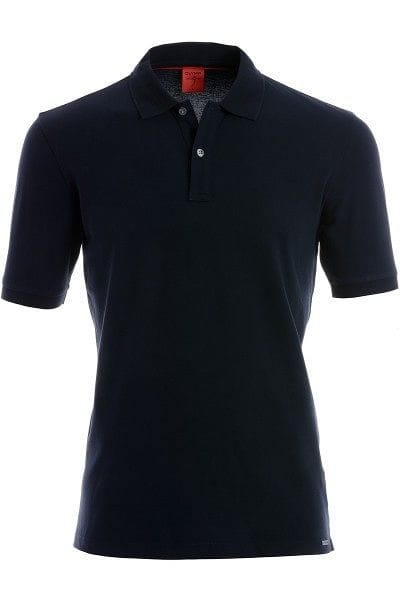 OLYMP Level Five Body Fit Poloshirt marine, Einfarbig