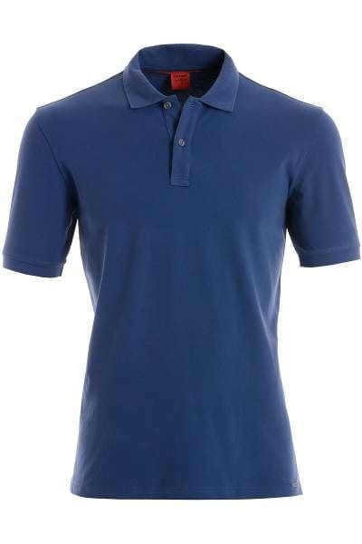 OLYMP Level Five Body Fit Poloshirt - Body Fit - blaugrau, Einfarbig