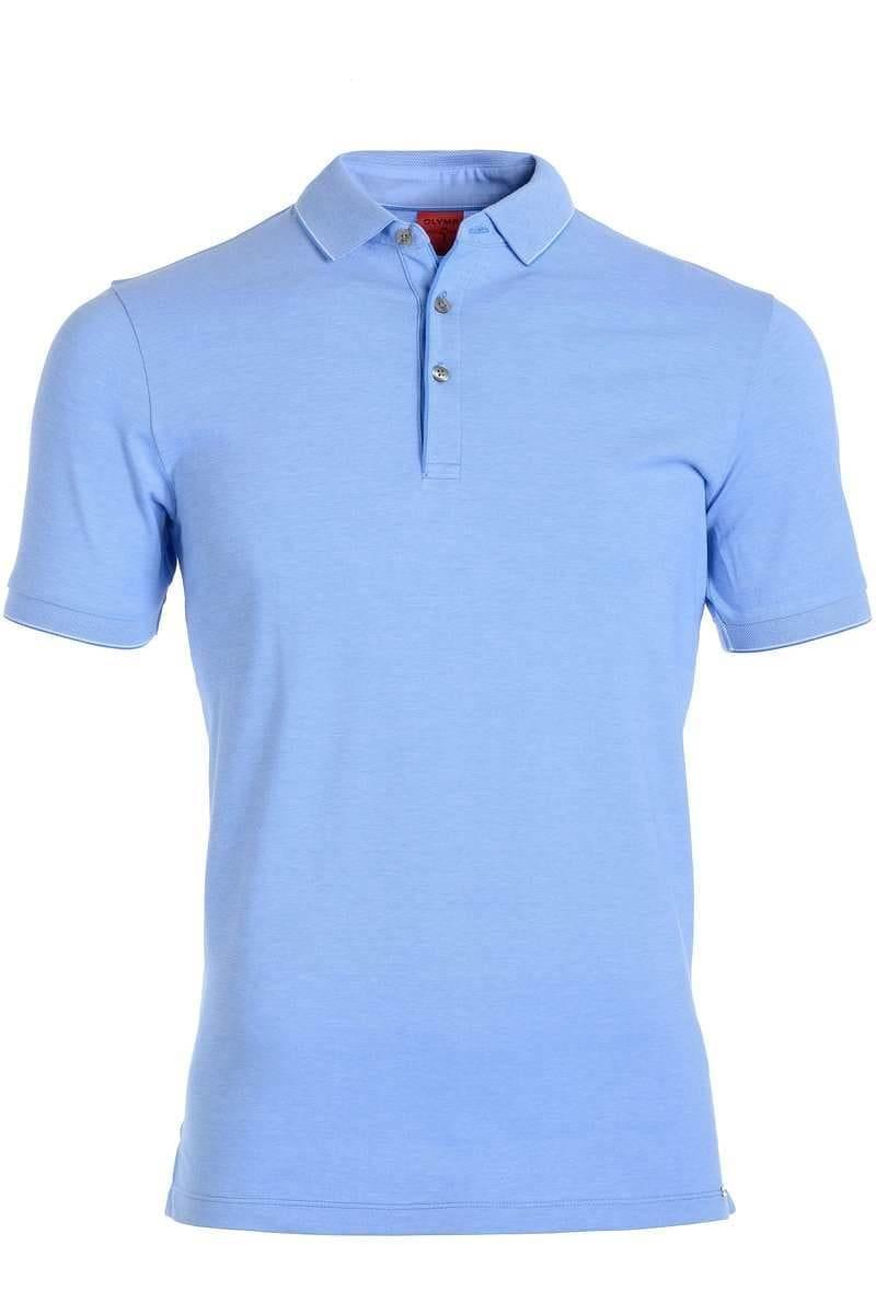 Olymp Level Five Body Fit Poloshirt sky/weiss, Zweifarbig
