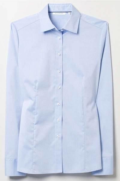 ETERNA Modern Classic Bluse hellblau, Einfarbig