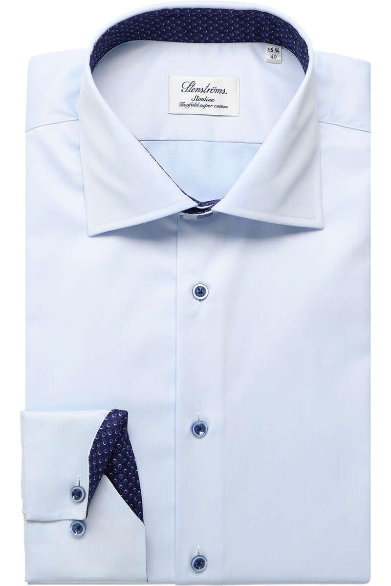 Stenströms Slimline Hemd hellblau, Einfarbig (extra langer Arm) 39 - M