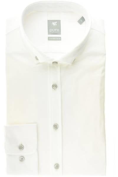 Pure Hemd - Extra Slim - weiss, Einfarbig