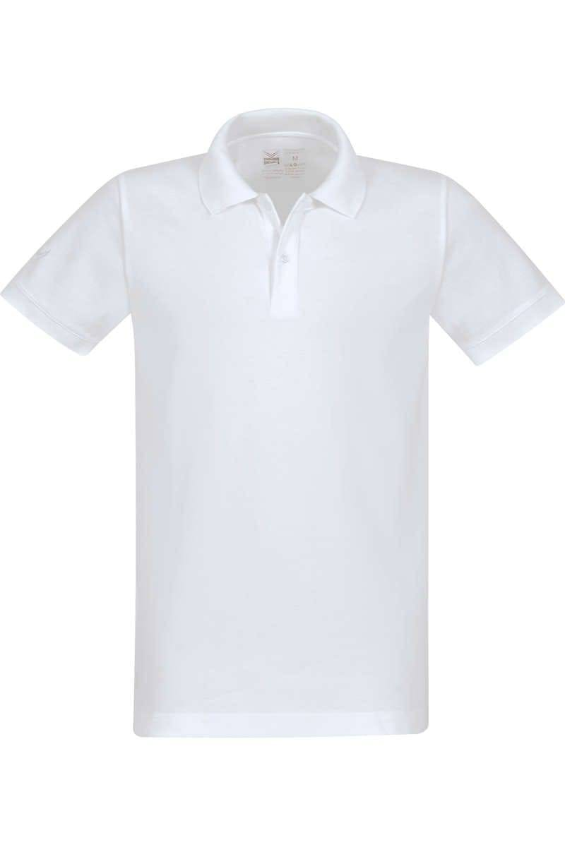 TRIGEMA Poloshirt - Polo, Slim Fit - weiss, Einfarbig