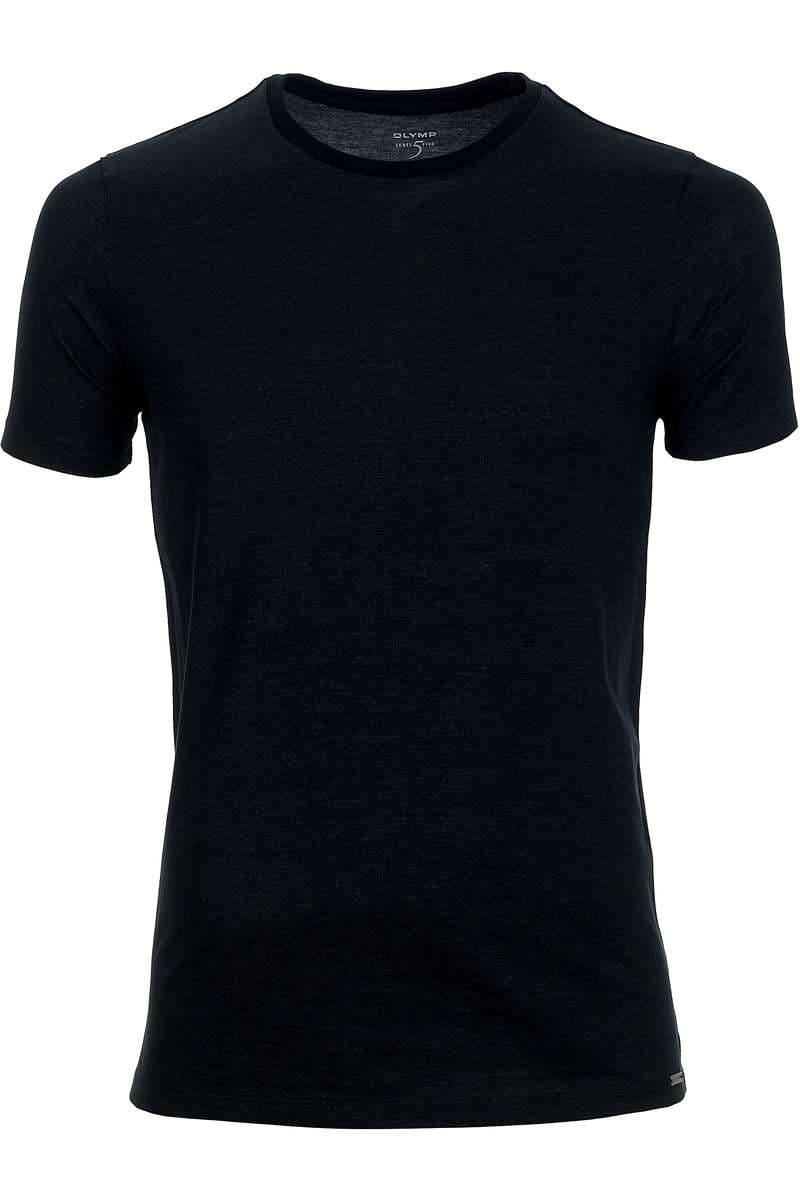 OLYMP Level Five Body Fit T-Shirt Rundhals anthrazit, einfarbig