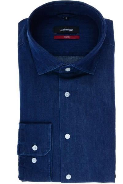 Seidensticker Modern Fit Hemd jeans, Einfarbig