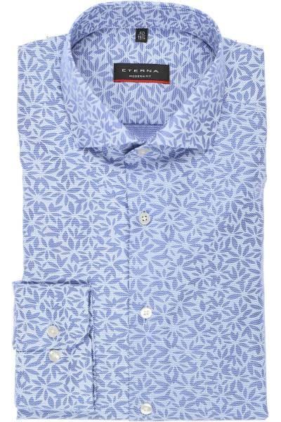 ETERNA Modern Fit Hemd blau/weiss, Gemustert