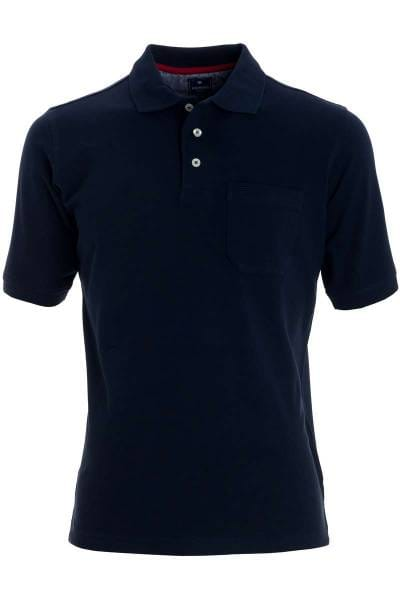 Redmond Casual Poloshirt nachtblau, Einfarbig