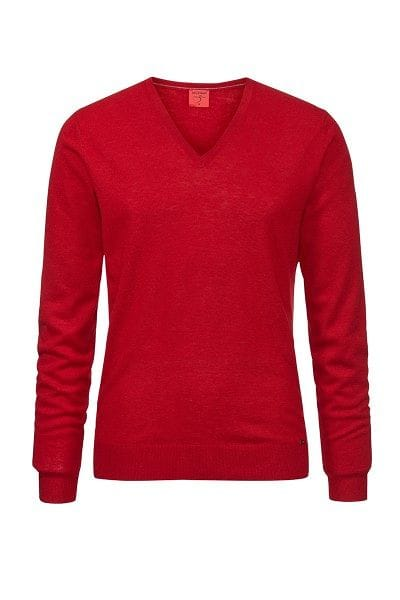 Olymp Strickpullover Level 5 Five Body Fit - ziegelrot