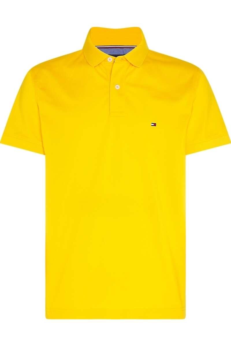 Tommy Hilfiger Regular Fit Poloshirt gelb, Einfarbig M