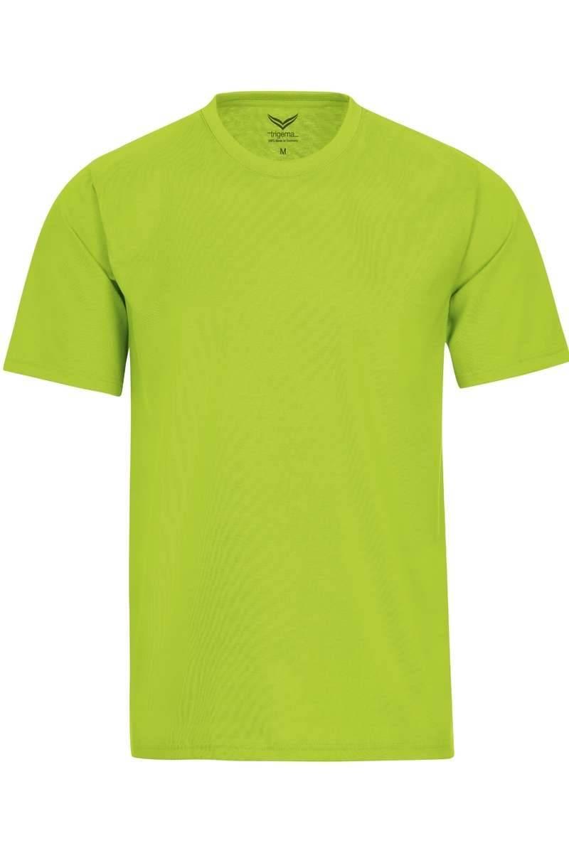 TRIGEMA T-Shirt Rundhals lemon, einfarbig