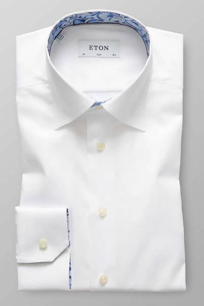 ETON Slim Fit Hemd weiss, Einfarbig