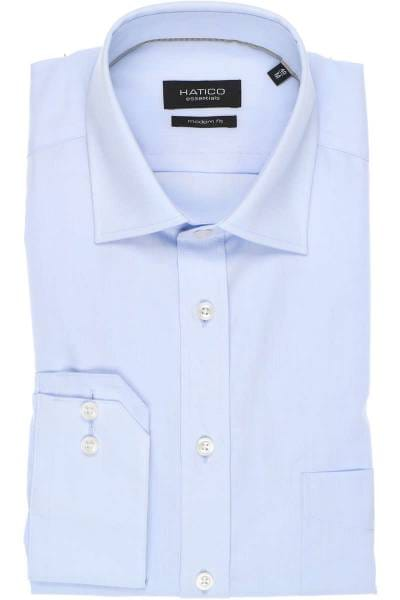 Hatico Modern Fit Hemd hellblau, Einfarbig