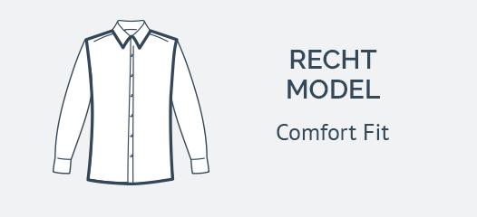Navy Overhemd Comfort Fit