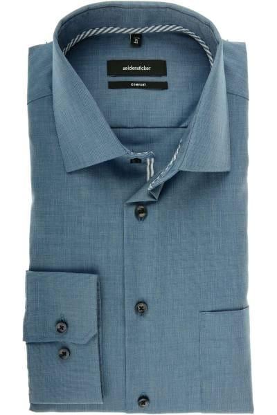Seidensticker Comfort Fit Hemd blau, Einfarbig