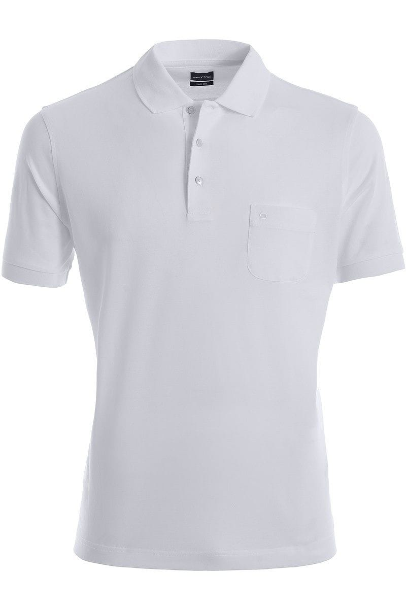 Olymp Modern Fit Poloshirt weiss, Einfarbig
