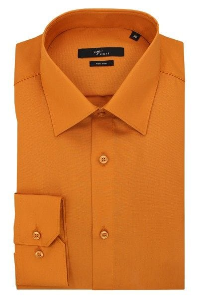 Venti Hemd - Modern Fit - ocker, Einfarbig
