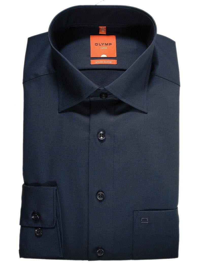 olymp slim line hemd in langarm 64cm dunkelblau. Black Bedroom Furniture Sets. Home Design Ideas