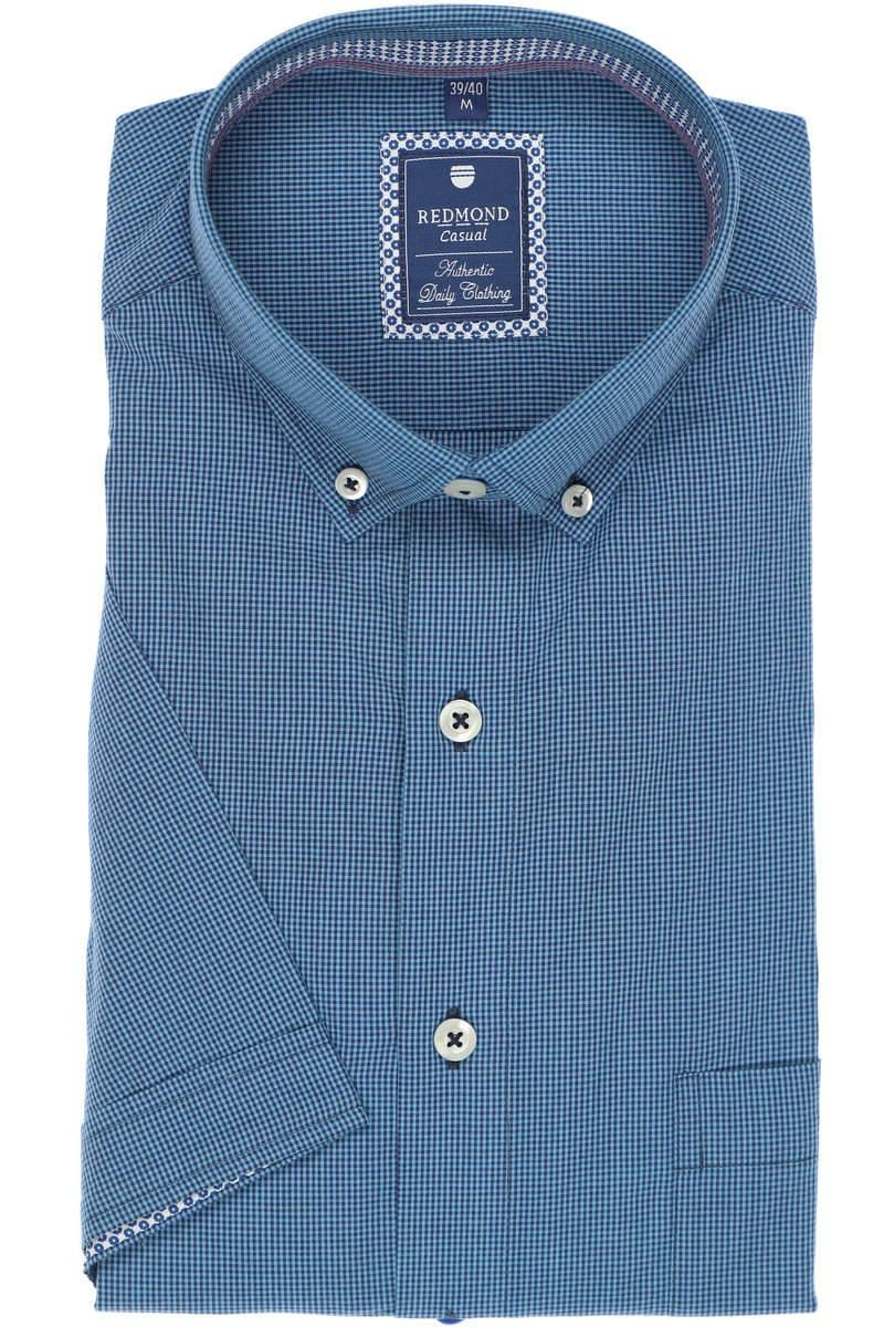 Redmond Casual Regular Fit Hemd blau/mittelblau, Kariert