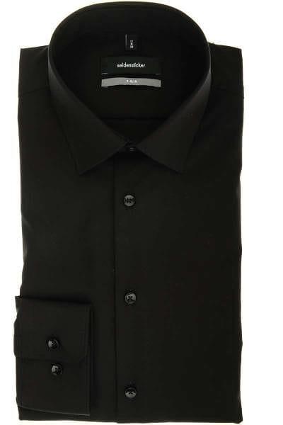 Seidensticker Hemd - X-Slim - schwarz, Einfarbig