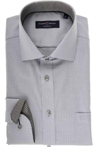 Casa Moda Modern Fit Hemd grau/weiss, Strukturiert