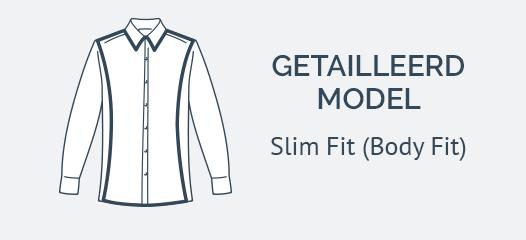 Wit Overhemd Slim Fit