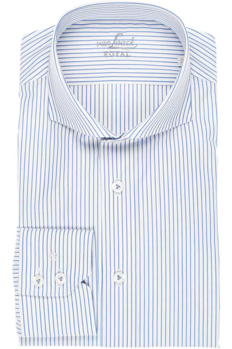 van Laack Slim Fit Hemd blau/weiss, Gestreift