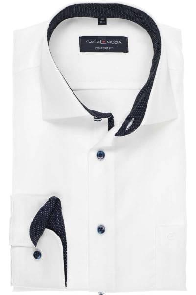 Casa Moda Comfort Fit Hemd weiss, Strukturiert