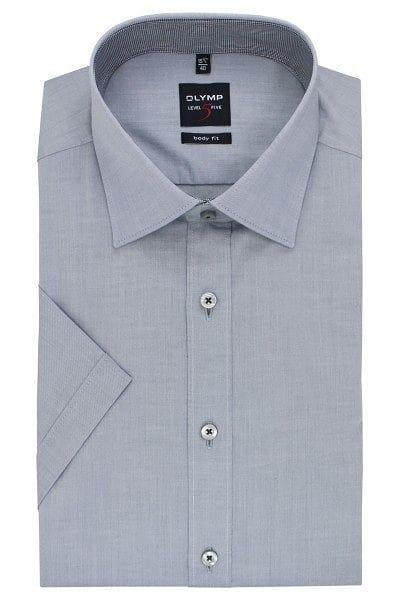 Olymp Hemd - Body Fit - grau, Einfarbig