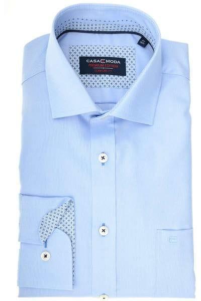 Casa Moda Comfort Fit Hemd hellblau, Strukturiert
