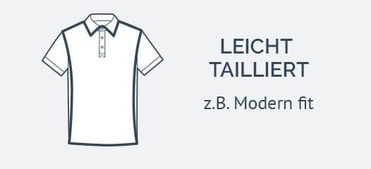 Herren Poloshirts leicht tailliert geschnitten