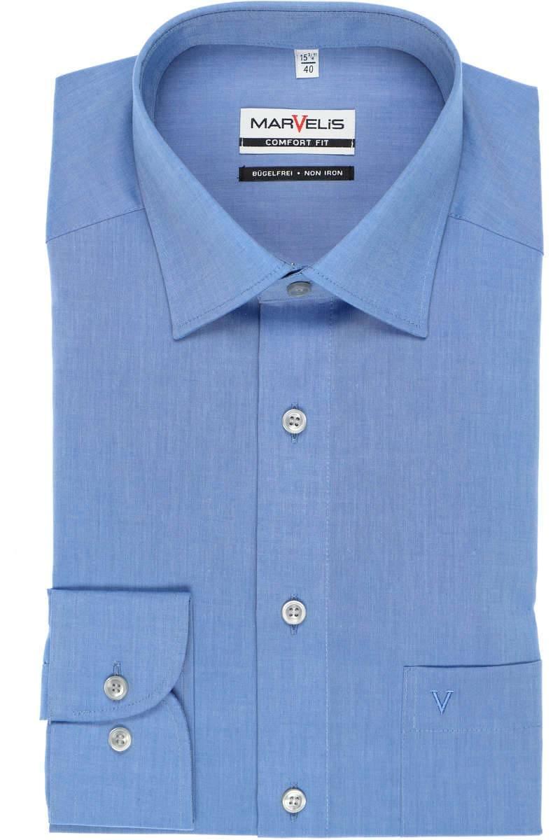 Marvelis Hemd - Comfort Fit - blau, Einfarbig