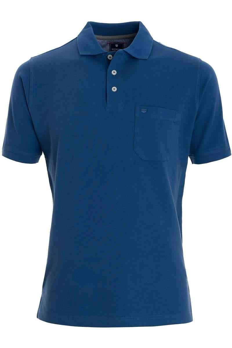 Redmond Casual Poloshirt blau, Einfarbig