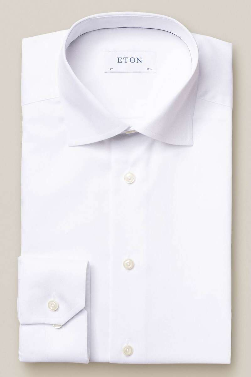 ETON Contemporary Fit Hemd weiss, Einfarbig 37 - S