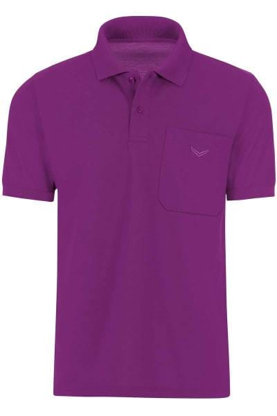 TRIGEMA Comfort Fit Poloshirt brombeer, Einfarbig