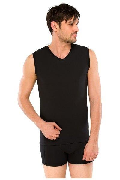 Schiesser Unterwäsche - Unterhemd Long Life Cotton - schwarz