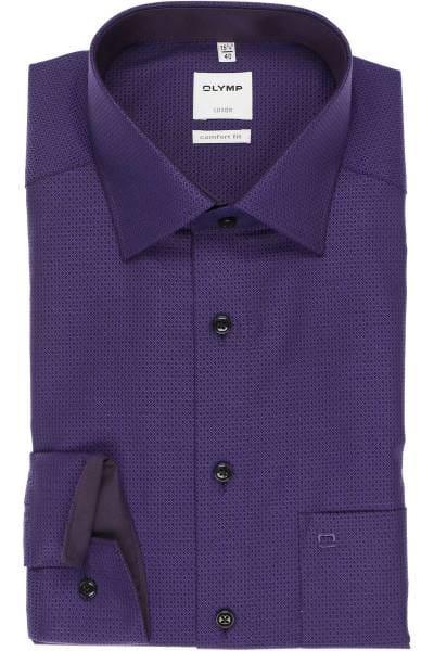 OLYMP Luxor Comfort Fit Hemd violett, Faux-uni