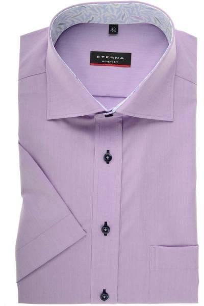 ETERNA Modern Fit Hemd flieder, Einfarbig