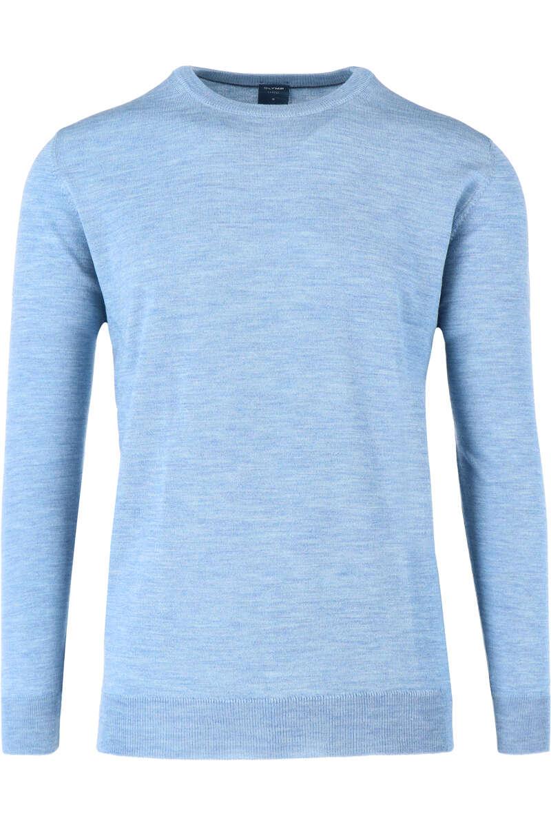 OLYMP Casual Modern Fit Pullover Rundhals eisblau, einfarbig L
