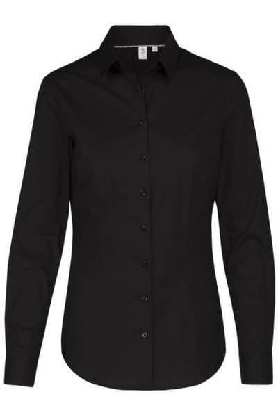 Seidensticker Bluse Slim Fit - schwarz , Einfarbig