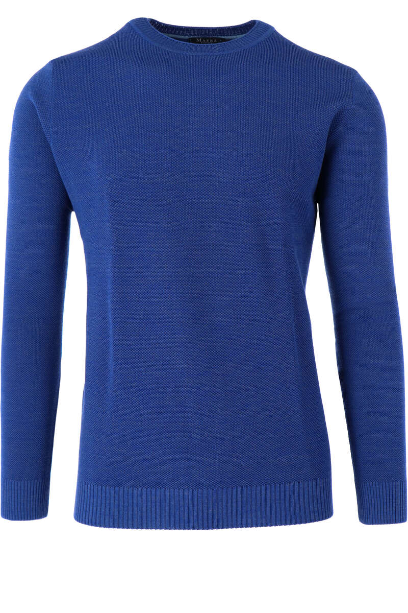 Maerz Casual Classic Fit Pullover Rundhals royal, einfarbig 48