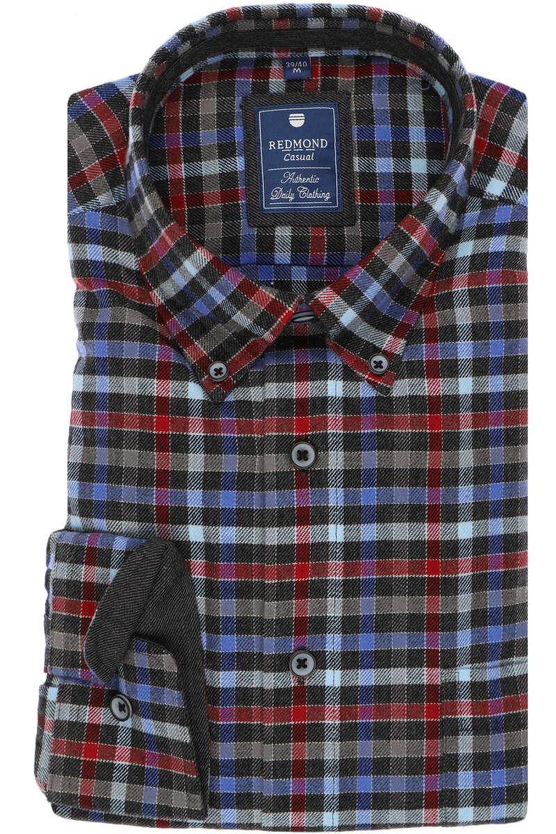 Redmond Regular Fit Hemd grau, Kariert S