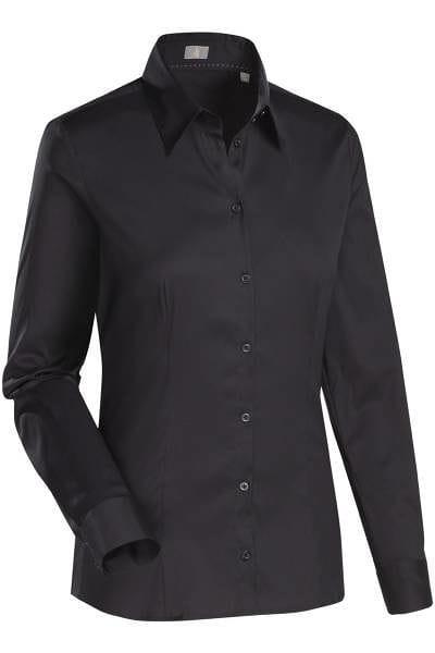 Jacques Britt Bluse Custom Fit - schwarz, Einfarbig