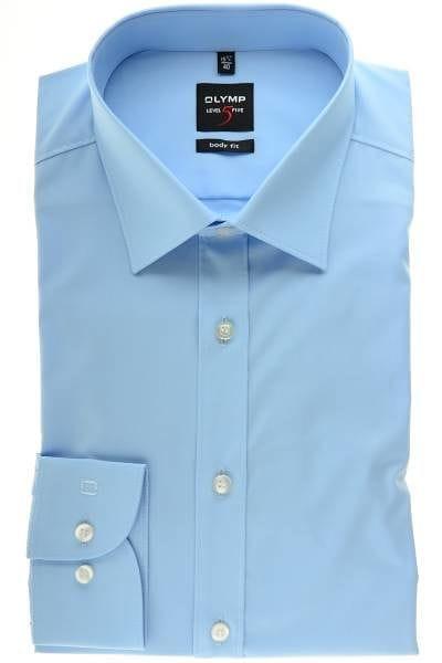 Olymp Hemd - Body Fit - hellblau , Einfarbig