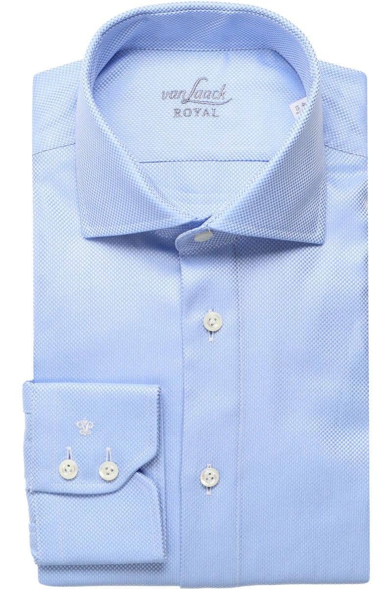 Van Laack Tailor Fit Hemd bleu, Strukturiert 40 - M