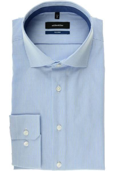 Seidensticker Tailored Hemd bleu/weiss, Feinstreifen