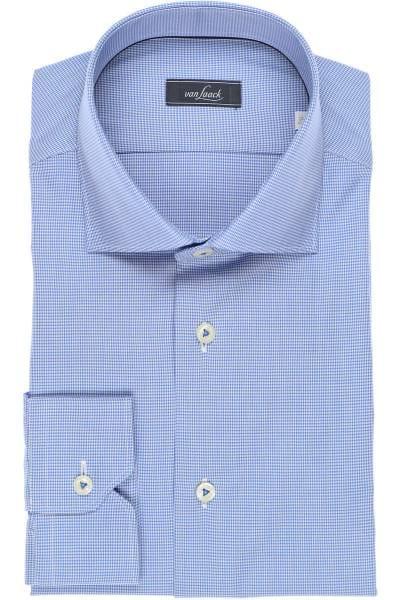 van Laack Tailor Fit Hemd blau, Hahnentritt