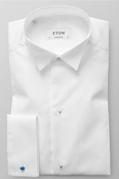 Eton Hemd - Contemporary Fit - weiss, Einfarbig
